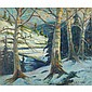 Emile Albert Gruppe (1896-1978), American BEECHNUT TREES LAMOILLE RIVER, VERMONT; Oil on canvas; signed lower right, titled to the stretcher20