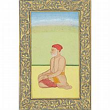 Indian School, MUGHAL-STYLE MAN IN TURBAN, 18TH CENTURY