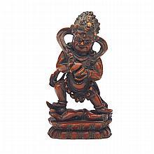 Unusual Hardstone Figure of Mahakala, Tibet, 19th Century or Earlier