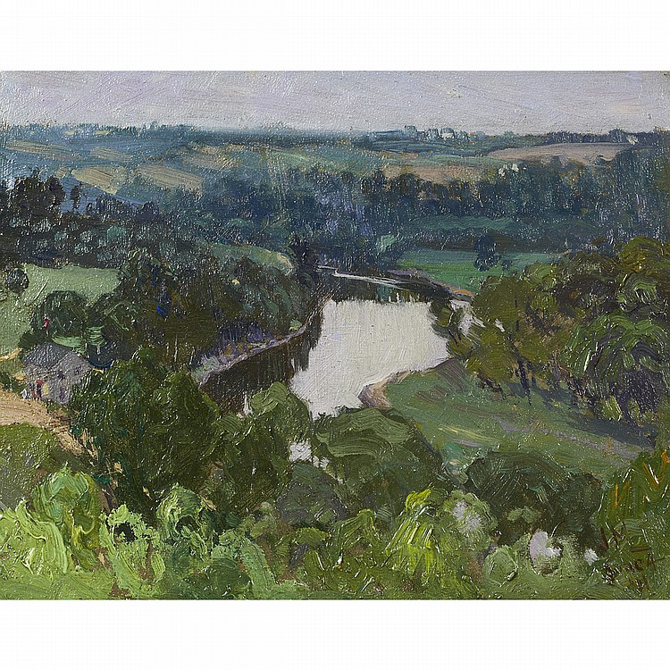 JAMES EDWARD HERVEY MACDONALD, O.S.A., R.C.A.MEADOWVALE, ONTARIO, oil on board; signed with initials and dated