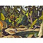 ARTHUR LISMER, O.S.A., R.C.A., POOL IN A FOREST CLEARING, oil on board, 11.75 ins x 15.75 ins; 29.4 cms x 39.4 cms