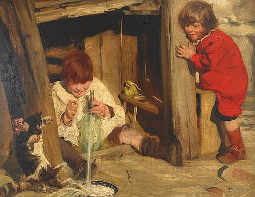 Charles Sims (1873-1928), British MILK AND SODA;