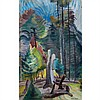M. EMILY CARR, FOREST CLEARING, oil on paper, 36 ins x 24 ins; 91.4 cms x 61 cms