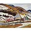 RALPH WALLACE BURTON, LAURENTIANS, ST. SAUVEUR, 1955, oil on canvas, 16.25 ins x 20 ins; 41.3 cms x 50.8 cms
