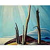 LAWREN STEWART HARRIS, LAKE SUPERIOR PAINTING, oil on canvas, 40 ins x 50 ins; 101.6 cms x 127 cms