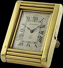 A FINE & RARE 18K SOLID GOLD 8 DAY EUROPEAN WATCH