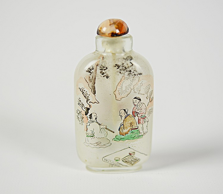 Yong Shoutian Glass Snuff Bottle