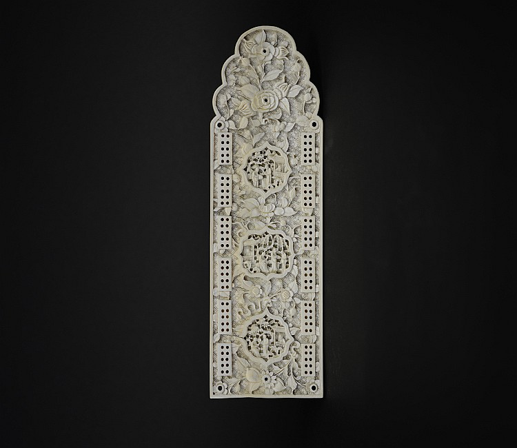 19th Century Chinese Ivory Wall Pendant
