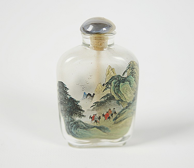 Qing Dynasty Chinese Crystal Snuff Bottle