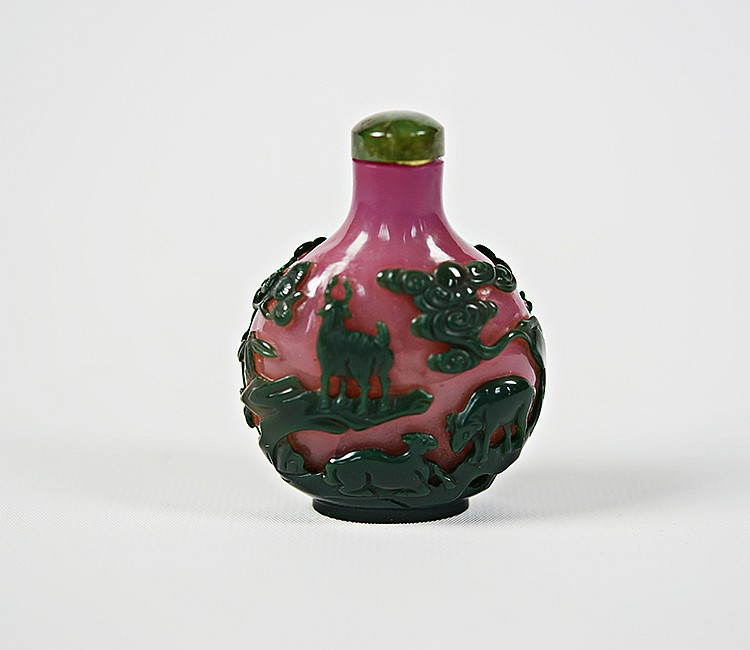 Rare Early 19th C. Chinese Peking Glass Snuff Bottle