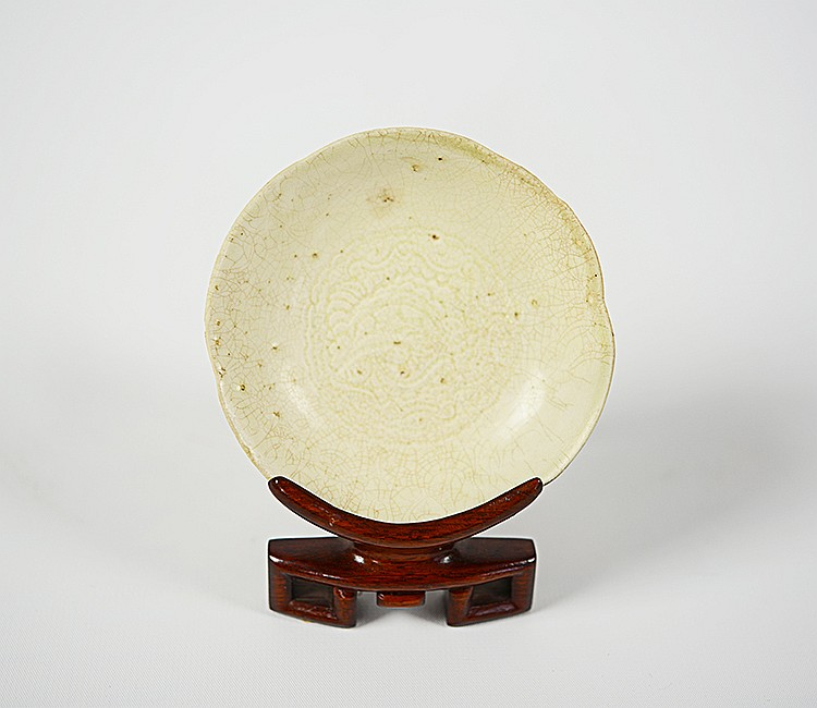 Chinese Porcelain Saucer, Probably of Yuan Period
