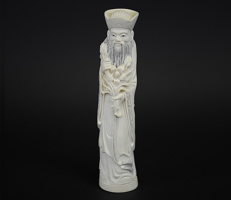 19th Century Chinese Ivory Figure of Officer