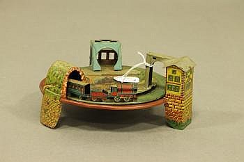 A German Gely Vintage Tin Plate Train Set with a