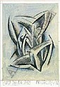 Dick Frizzell Cubist Tiki pencil and watercolour on paper title inscribed, signed and dated 30/1/92300 x 150mm