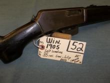 Win. 1905 Self Loading 35 Cal. Semi, 1 clip 2253 Reg.Req.