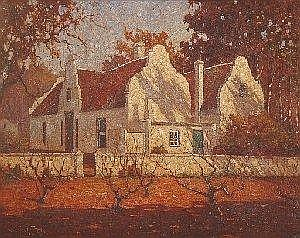 Jack (Jacobus) Pieters (South African 1886-1977) SCHOONGEZICHT HOMESTEAD, STELLENBOSCH signed 60 by 75cm