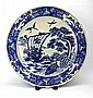 Large Chinese Qing Blue & White Plate
