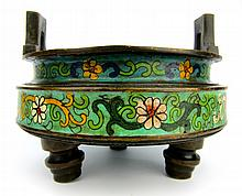 Chinese Qing Cloisonne Incense Burner