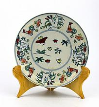 Chinese Porcelain Doucai Plate