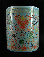 Chinese Porcelain WuCai Brush Pot