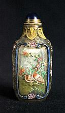 Old Chinese Peking Glass Snuff Bottle