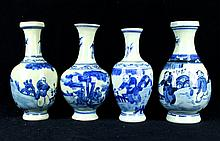 Set of Chinese Porcelain Blue&White; Vase