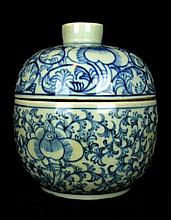 Chinese Qing Blue&White; Porcelain Jar