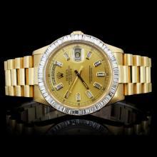 Rolex Day-Date Perpetual Men's Diamond Wristwatch