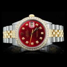 Rolex 14K YG/SS Oyster DateJust Men's Wristwatch