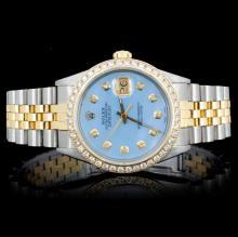 Rolex 14KT YG/SS Oyster DateJust Men's  Wristwatch