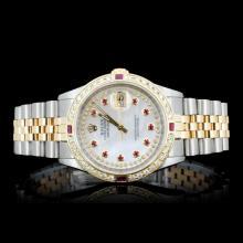 Rolex YG/SS DateJust Diamond Men's Watch