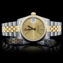 18K S/YG Rolex Perpetual DateJust Mid-Size Wristwa