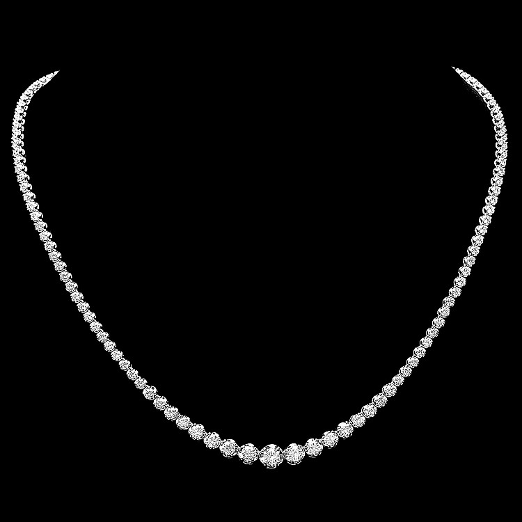 18k White Gold 6.50ct Diamond Necklace