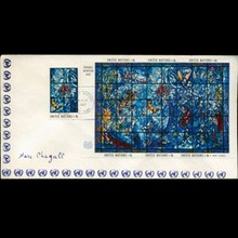1967 UN First Day 7 Block Postal Cover