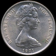 1971 New Zealand 10p MS65 Scarce Variety