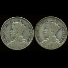 1935 New Zealand 6p Silver 2pcs VF