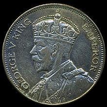 1933 New Zealand 1/2 Crown XF/AU