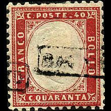 1862 Scarce Italy 40c Stamp