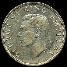 1941 New Zealand 1/2 Crown XF/AU