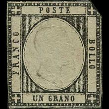 1861 Scarce Italy Neapolitan 1g Stamp Mint NG