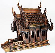 Handcrafted Thai Teak Spirit House