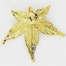 Gold Filled Japanese Maple Leaf Pendant