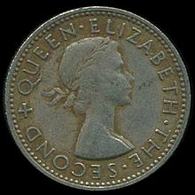 1955 New Zealand Shilling Elizabeth XH Scarce