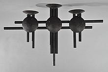 MODERNIST 3 TIER METAL SCONCE CANDLE HOLDER
