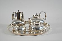 CHRISTOFLE SILVER PLATE TEA SET