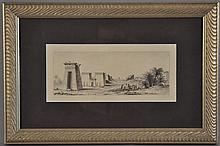 19TH CENTURY PRINT OF EGYPTIAN QUARRY