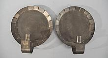 PAIR OF EARLY AMERICAN TIN CANDLE SCONCES