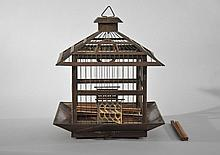C. 1910 HENDRYX CO BRASS BIRD CAGE
