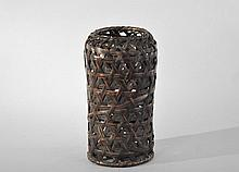 19TH C. WOVEN JAPANESE BASKET