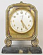 TIFFANY CHINESE STYLE BRONZE DESK CLOCK